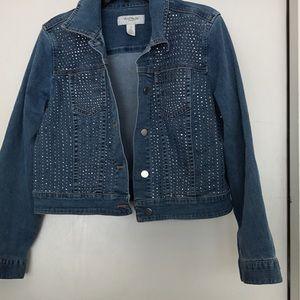 Platinum Chico's Denim Jacket